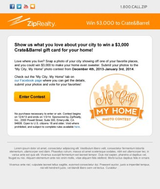 ZipRealty - Promotion Email